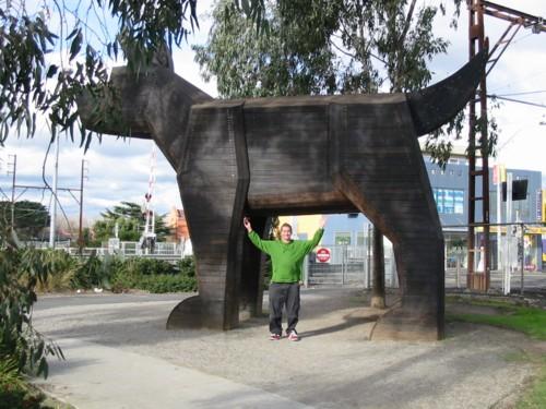 Melbourne Train Station Big Dog